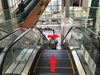 渋谷駅エスカレーター